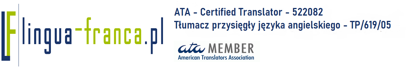 ATA certified translator  – 522082